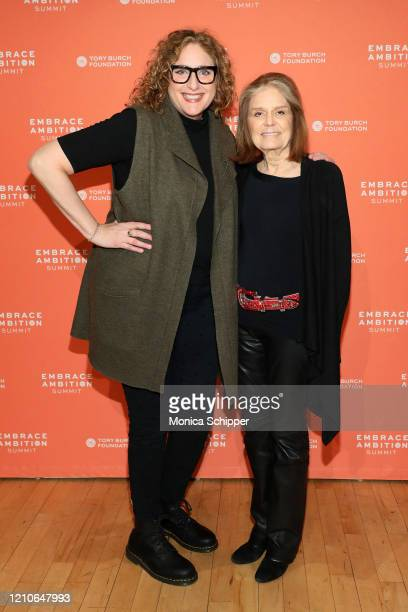 Judy Gold and Gloria Steinem attend the 2020 Embrace Ambition Summit by the Tory Burch Foundation at Jazz at Lincoln Center on March 05 2020 in New...