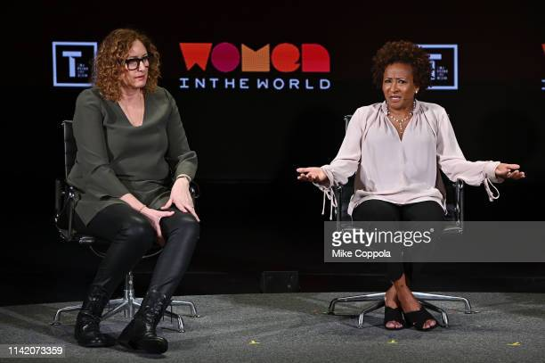 Judy Gold and Wanda Sykes speak onstage at the 10th Anniversary Women In The World Summit Day 2 at David H Koch Theater at Lincoln Center on April 11...