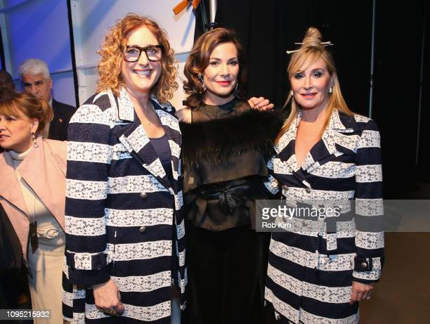 Judy Gold Countess Luann and Sonja Morgan prepare backstage during the The 3rd Annual Blue Jacket Fashion Show Benefitting The Prostate Cancer...