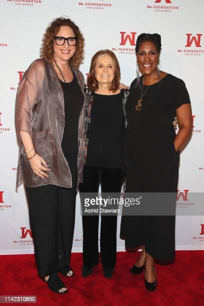 Judy Gold Founding Mother Ms Foundation Gloria Steinem and President CEO of Ms Foundation Teresa Younger attend the Ms Foundation For Women's Annual...