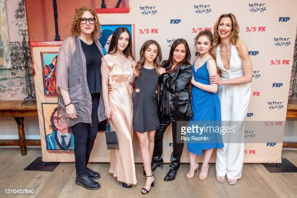 Judy Gold Mikey Madison Olivia Edward Pamela Adlon Hannah Alligood and Alysia Reiner attend FX's Better Things Season 4 Premiere at the Whitby Hotel...