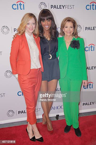 Judy Greer Aisha Tyler and Jessica Walter at Paley Center For Media on October 12 2014 in New York New York
