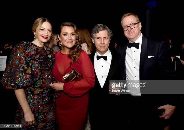Judy Greer Amber Nash Chris Parnell and Matt Thompson attend the 24th annual Critics' Choice Awards at Barker Hangar on January 13 2019 in Santa...