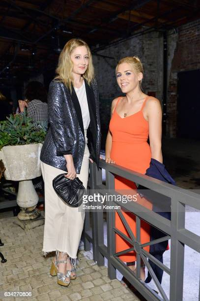 Judy Greer and Busy Philipps attend Rachel Comey Fall Winter 2017 Collection Presentation on February 7 2017 in Los Angeles California