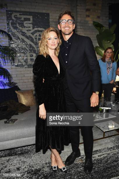 Judy Greer and Lee Pace attend the Driven Cocktail Party hosted by RBC during 2018 Toronto International Film Festival at RBC House on September 10...