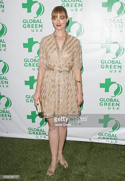 Judy Greer arrives at Global Green USA's 14th Annual Millennium Awards at the Fairmont Miramar Hotel on June 12 2010 in Santa Monica California