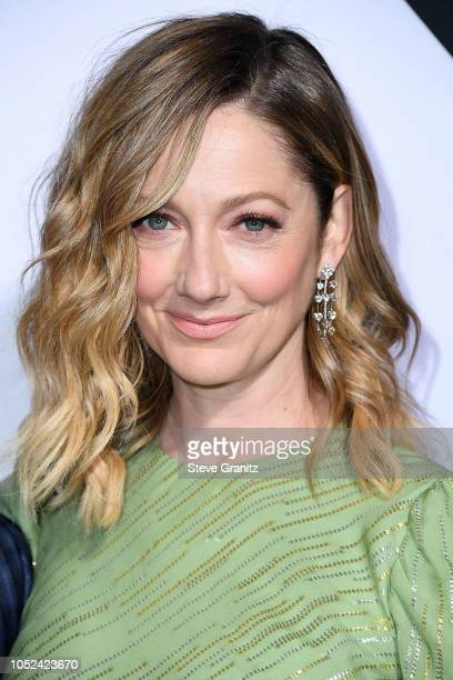 """Judy Greer arrives at the Universal Pictures' """"Halloween"""" Premiere at TCL Chinese Theatre on October 17, 2018 in Hollywood, California."""