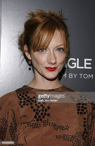 """Judy Greer attends a screening of """"A Single Man"""" hosted by the Cinema Society and Tom Ford at The Museum of Modern Art on December 6, 2009 in New..."""