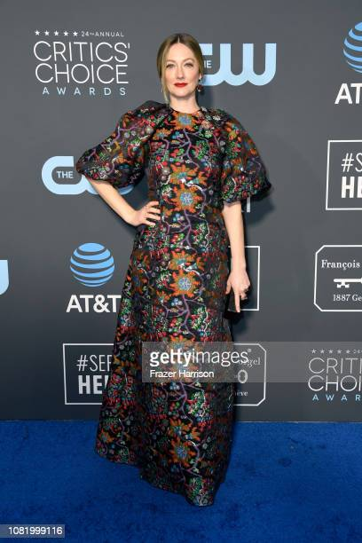 Judy Greer attends the 24th annual Critics' Choice Awards at Barker Hangar on January 13 2019 in Santa Monica California