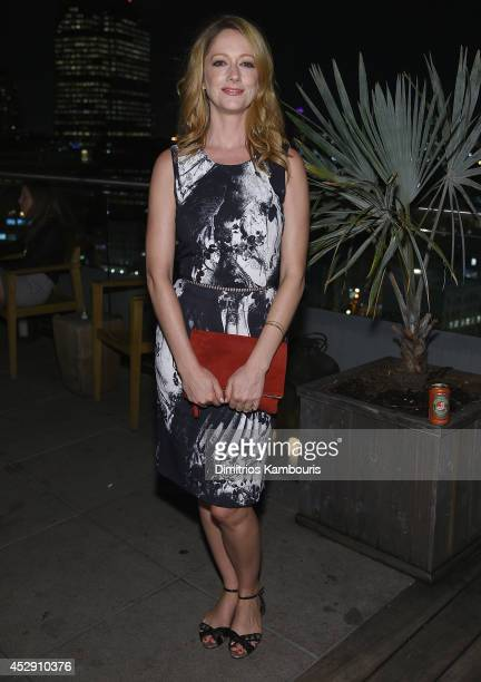"""Judy Greer attends The Cinema Society with Men's Fitness and FIJI Water special screening of Marvel's """"Guardians of the Galaxy"""" after party at The..."""