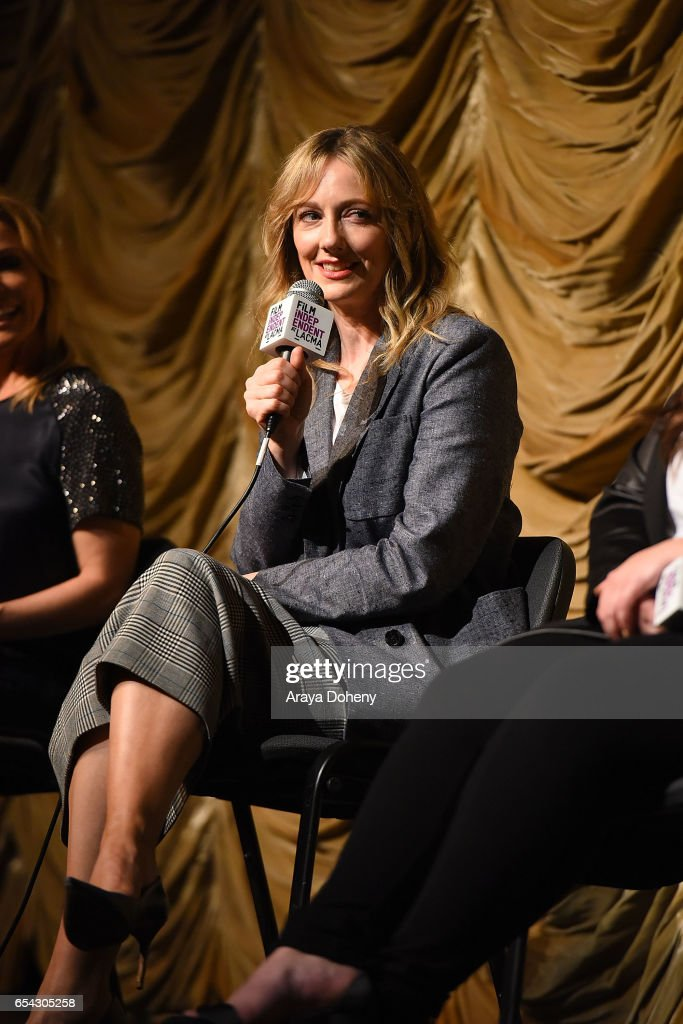 Judy Greer attends the Film Independent at LACMA Screening and Q&A of 'Wilson' at Bing Theatre At LACMA on March 16, 2017 in Los Angeles, California.