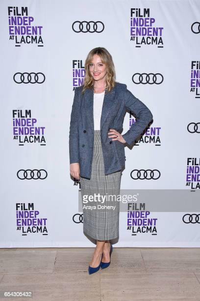 Judy Greer attends the Film Independent at LACMA Screening and QA of 'Wilson' at Bing Theatre At LACMA on March 16 2017 in Los Angeles California