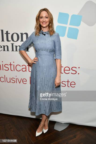 Judy Greer attends the Hilton Garden Inn Sophisticated Bites Menu Reveal Event at an exclusive first taste testing to celebrate the unveiling of its...