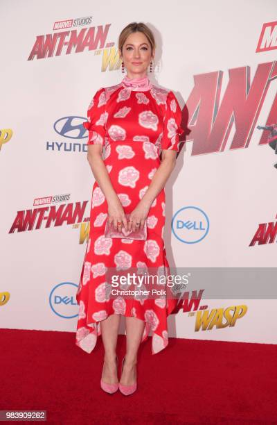 Judy Greer attends the premiere of Disney And Marvel's AntMan And The Wasp on June 25 2018 in Los Angeles California