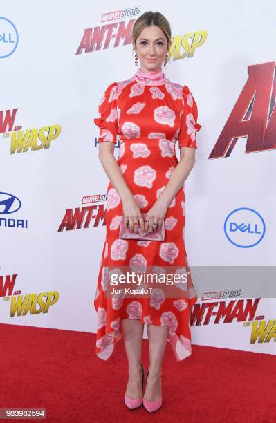 Judy Greer attends the premiere of Disney And Marvel's AntMan And The Wasp at the El Capitan Theater on June 25 2018 in Hollywood California