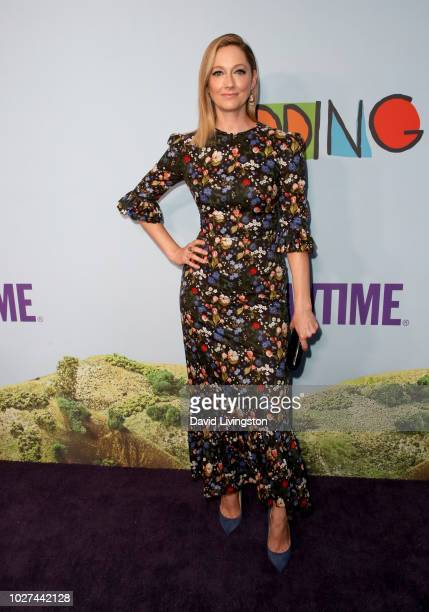Judy Greer attends the premiere of Showtime's Kidding at The Cinerama Dome on September 5 2018 in Los Angeles California