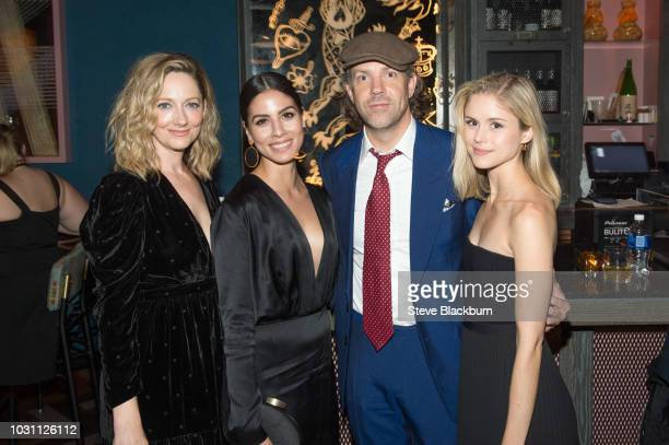 Judy Greer Isabel Arraiza Jason Sudeikis and Erin Moriarty attend the Mira For The Driven Party during 2018 Toronto International Film Festival held...