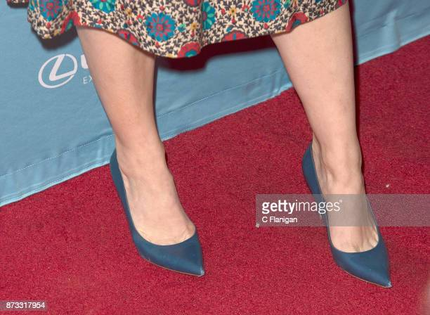 Judy Greer shoe detail attends the Red Carpet Festival Gala at CIA Copia during the 7th Annual Napa Valley Film Festival on November 11 2017 in Napa...