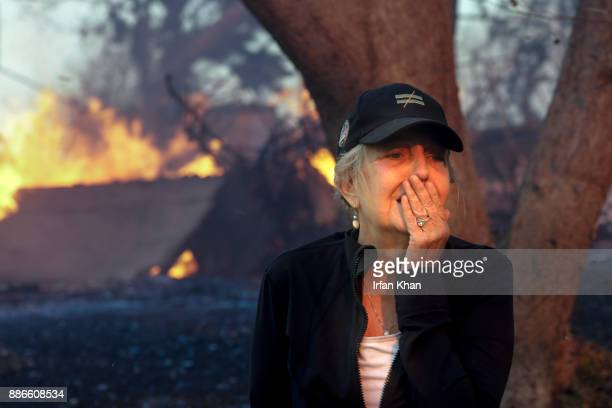 DECEMBER 05 2017 Judy HofmannSanders can only watch as her home is consumed by the Creek fire along McBroom Street in Shadow Hills