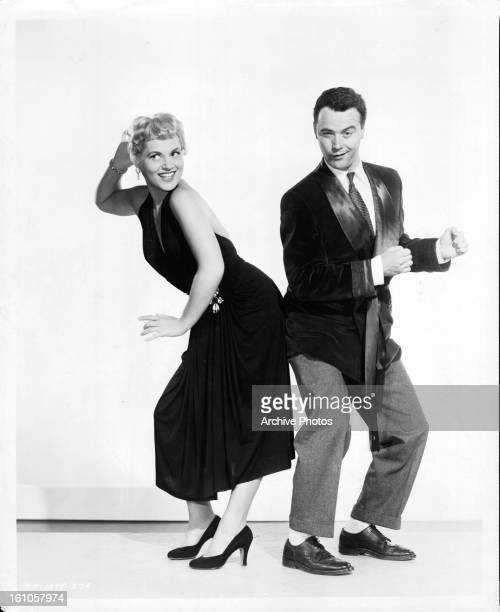 Judy Holliday and Jack Lemmon in publicity portrait for the film 'Phffft' 1954