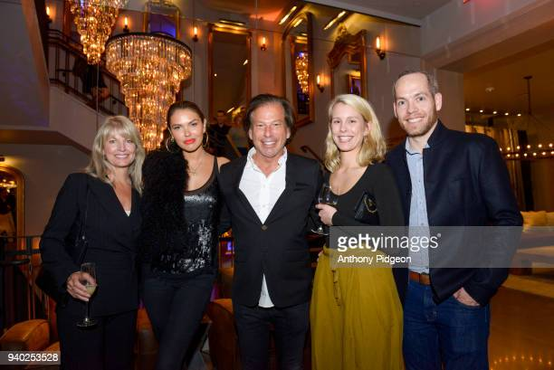 Judy Inglis Bella Hunter RH Chairman CEO Gary Friedman Host Committee Members Maddie Peter Andrews at the RH Restoration Hardware Celebrates the...