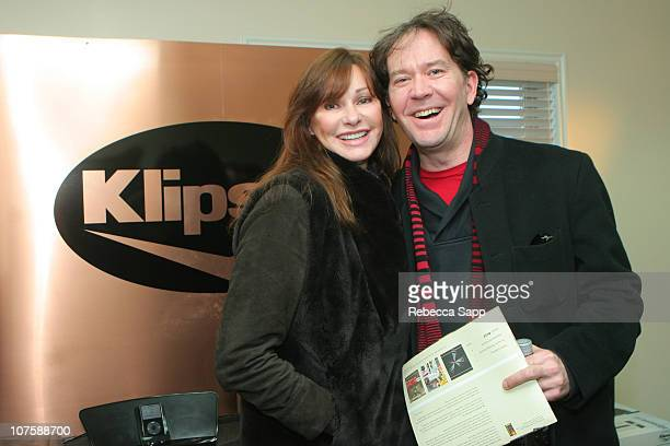 Judy Klipsch and Timothy Hutton at Klipsch during 2007 Park City Luxury Lounge Day 3 at Media Placement Luxury Lounge in Utah United States