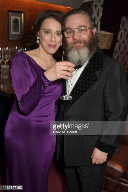 Judy Kuhn and Andy Nyman attend The Olivier Awards 2019 with Mastercard at The Royal Albert Hall on April 7 2019 in London England