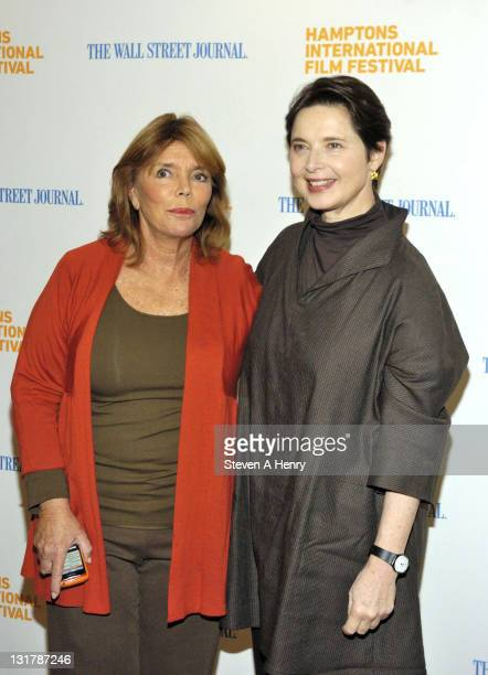 Judy Licht and actress Isabella Rossellini attend the Conversation With Isabella Rossellini during the 18th Annual Hamptons International Film...