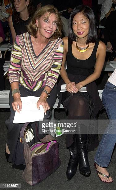 Judy Licht and Christina Ha during 2002 New York Fashion Week Moet Chandon Presents Behnaz Sarafpour Fashion Show at Industria Superstudio in New...