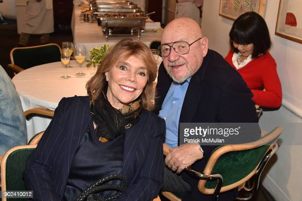 Judy Licht and Jerry Della Femina attend Joan Kron's 90th Birthday 'Take My NosePlease' Release Party at Michael's on January 7 2018 in New York City