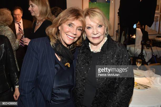 Judy Licht and Joan Kron attend Joan Kron's 90th Birthday 'Take My NosePlease' Release Party at Michael's on January 7 2018 in New York City