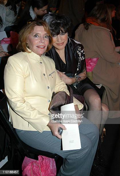 Judy Licht and Lauren Ezersky during Olympus Fashion Week Fall 2004 Tracy Reese Front Row and Backstage at Studio Noir at Bryant Park in New York...