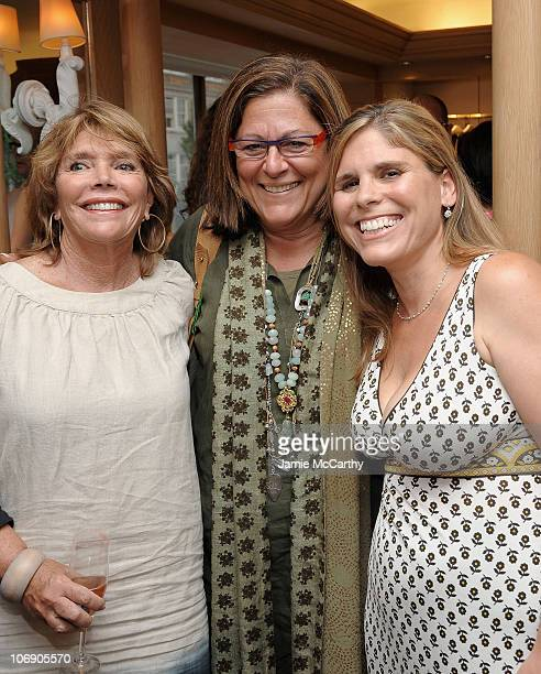 Judy Licht Fern Mallis and Author Jodi Della Femina attend a celebration hosted by Vera Wang Bridal House Martha Stewart Weddings for the release of...