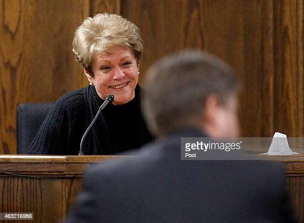 Judy Littlefield mother of Chad Littlefield takes the witness stand during the capital murder trial of former Marine Cpl Eddie Ray Routh at the Erath...