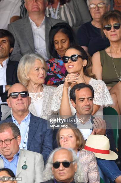 Judy Loe and Kate Beckinsale attend Men's Finals Day of the Wimbledon Tennis Championships at All England Lawn Tennis and Croquet Club on July 14,...