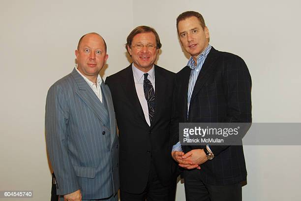 Judy Lybke Michael Ovitz and Jon Sandelman attend Opening of TIM EITEL at PaceWildenstein at PaceWildenstein on November 16 2006 in New York City