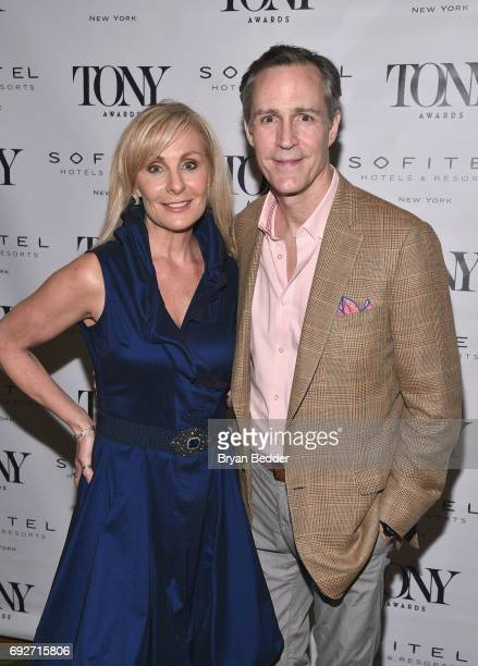 Judy McLane and Howard McGillin attend the Tony Honors Cocktail Party Presenting The 2017 Tony Honors For Excellence In The Theatre And Honoring The...