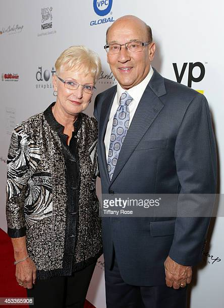 Judy Miller and sportscaster Bob Miller attend the 14th Annual Harold Carole Pump Foundation Event on August 8 2014 in Los Angeles California