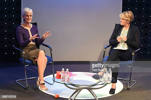 Judy Murray and Clare Balding during the Sport Industry Breakfast Club on June 8 2016 in London England