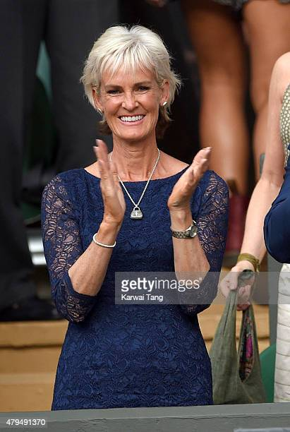 Judy Murray attends day six of the Wimbledon Tennis Championships at Wimbledon on July 4 2015 in London England