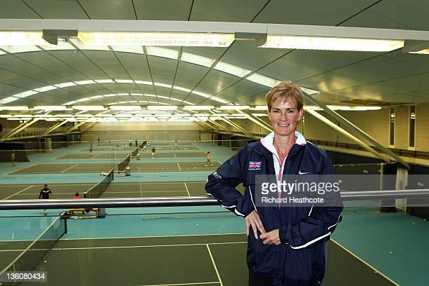 Judy Murray poses for a picture as she is announced as the Fed Cup Captain during a LTA Press Conference at the LTA Tennis Centre in Roehampton on...