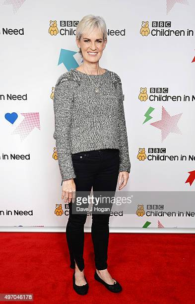 Judy Murray shows her support for BBC Children in Need at Elstree Studios on November 13 2015 in Borehamwood England