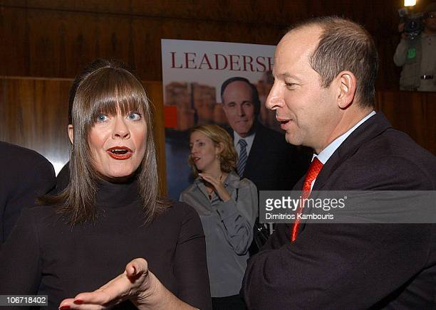 Judy Nathan and Ron Galotti during Harvey Weinstein and Miramax Books Celebrate the Success of Rudolph Giuliani's Literary Debut Leadership at Four...