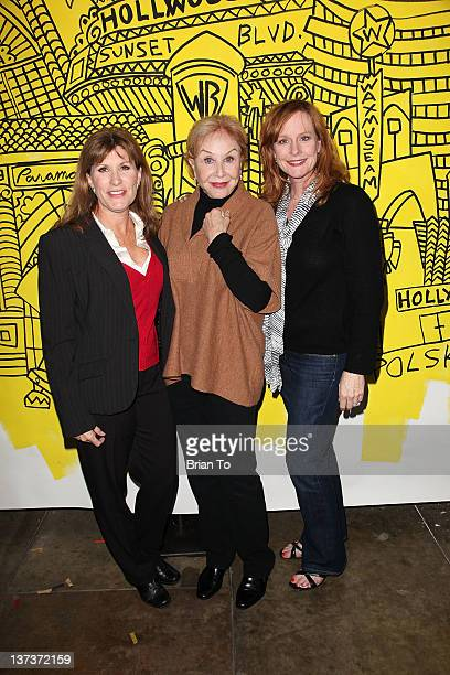 Judy Norton Michael Learned and Mary McDonough from The Waltons attend the Red Line Tours of Hollywood unveiling of their new series of collectible...
