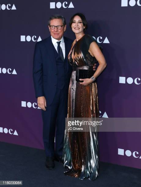 Judy Ovitz and guest attend the MOCA Benefit 2019 at The Geffen Contemporary at MOCA on May 18 2019 in Los Angeles California