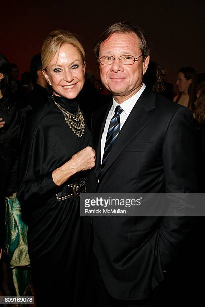 Judy Ovitz and Michael Ovitz attend Jeff Wall Exhibition Dinner at MoMa on February 20 2007 in New York City