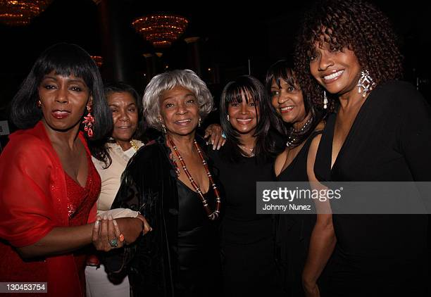Judy Pace Nichelle Nichols Rebe Jackson Iris Gordy and Beverly Todd attend the 11th Annual Uniting Nations Awards viewing and dinner after party at...