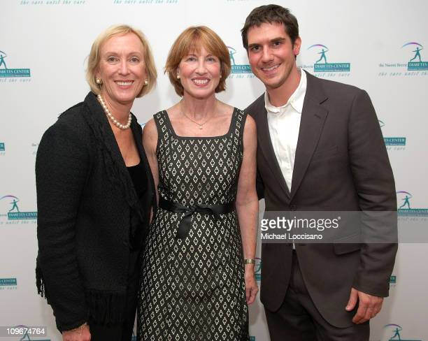 Judy Paulen Betsy Hilfiger and son/NBDC board member Mike Fredo attend the first ever Art Rocks Benefit for Columbia University's Naomi Berrie...