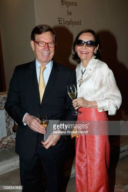 Judy Price and her husband Peter attend the Kering Heritage Days Opening Night at 40 Rue de Sevres on September 14 2018 in Paris France