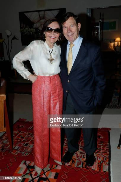 Judy Price and her husband Peter Price who organize the event at their home attend Yanou Collart signs her Book Les Etoiles de ma Vie Stars of my...